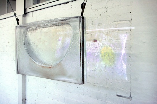 Untitled (Refresh), 2012, ice, digital video projection.