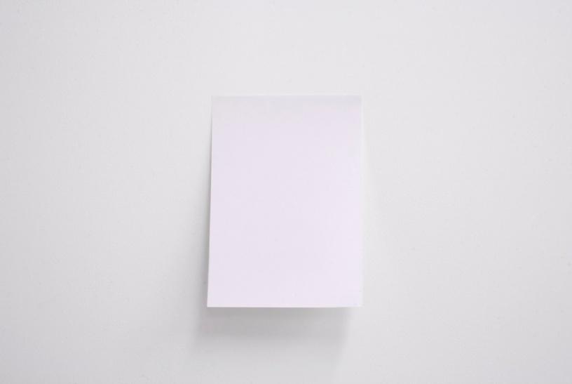 Untitled (Draft), 2012, A4 paper, fan