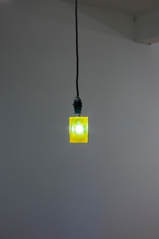 An Episode of Tenderness, 2018. Lightbulb in resin and pigment