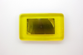 Silent Expenditure, 2018. Mobile phone screen parts in resin and pigment